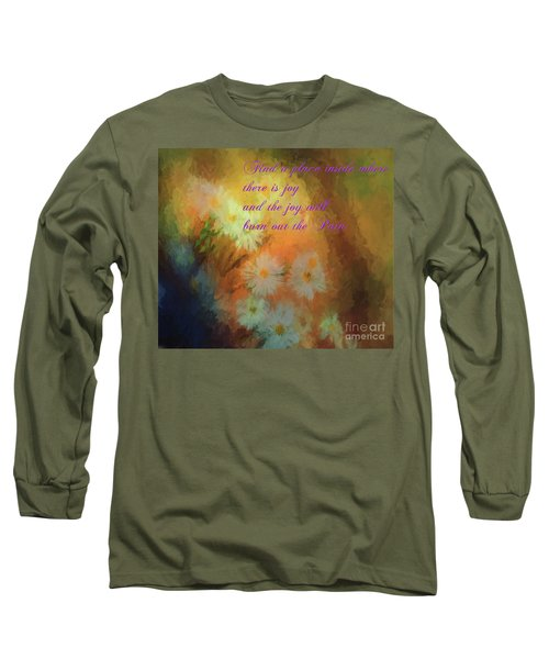 Long Sleeve T-Shirt featuring the mixed media Joy by Jim  Hatch