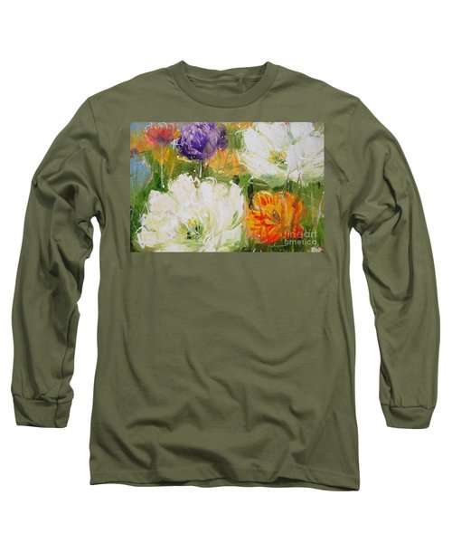 Joy With Tulips Long Sleeve T-Shirt