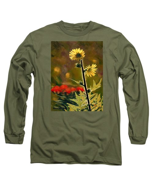 July Afternoon-compass Plant Long Sleeve T-Shirt by Bruce Morrison