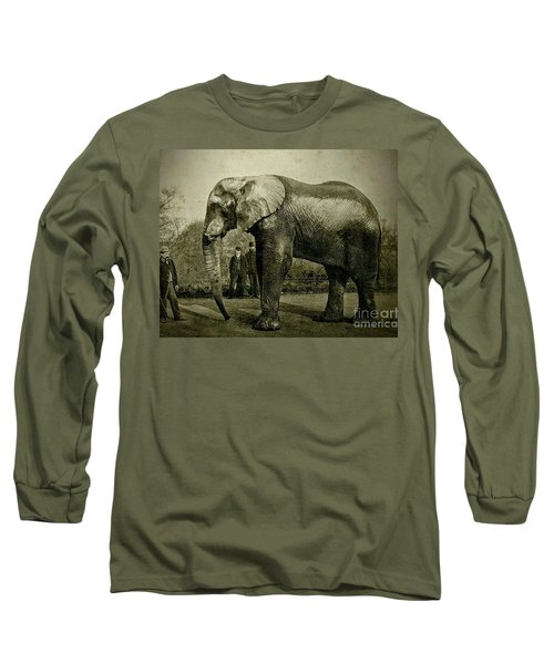 Long Sleeve T-Shirt featuring the photograph Jumbo The Elepant Circa 1890 by Peter Gumaer Ogden