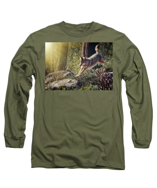 Jumping Rocks Long Sleeve T-Shirt by Elaine Malott