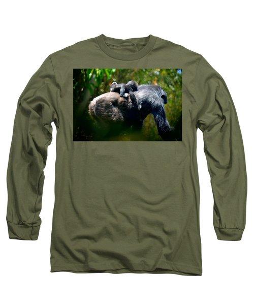Jungle Baby Hitch Hiker Long Sleeve T-Shirt by Lori Seaman