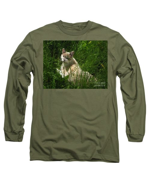 Jungle Cat Long Sleeve T-Shirt by Sandy McIntire