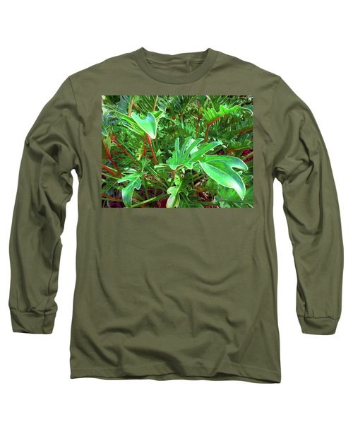 Long Sleeve T-Shirt featuring the photograph Jungle Greenery by Ginny Schmidt