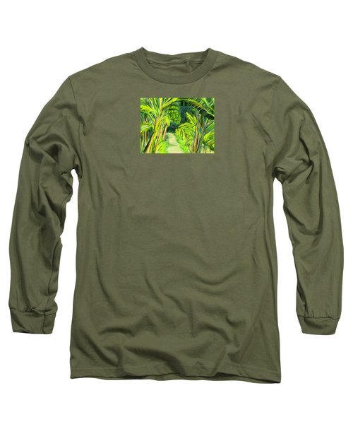 Long Sleeve T-Shirt featuring the digital art Jungle Path by Jean Pacheco Ravinski