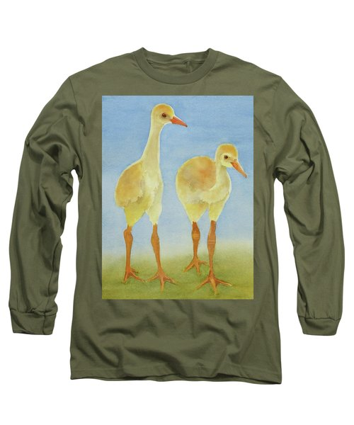 Junior Birdmen Long Sleeve T-Shirt by Judy Mercer