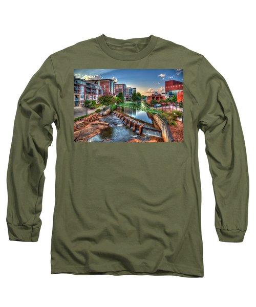 Just Before Sunset 2 Reedy River Falls Park Greenville South Carolina Art Long Sleeve T-Shirt