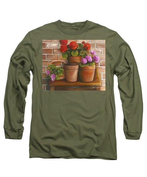 Just Geraniums Long Sleeve T-Shirt