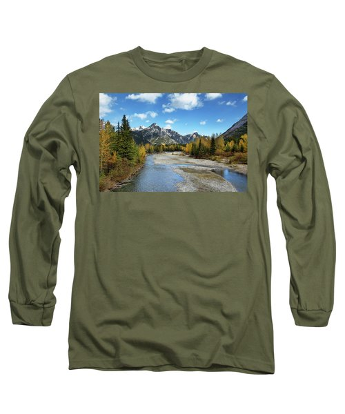 Kananaskis River In Fall Long Sleeve T-Shirt