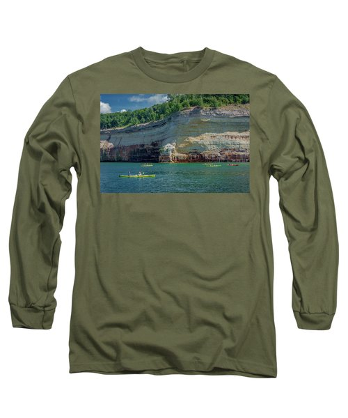 Kayaking The Pictured Rocks Long Sleeve T-Shirt