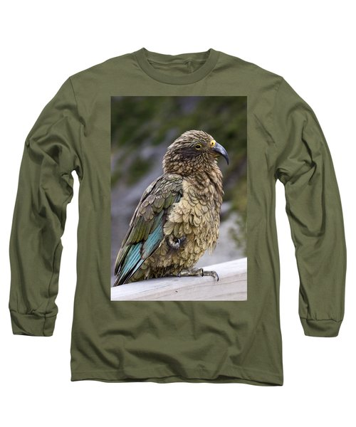 Long Sleeve T-Shirt featuring the photograph Kea Bird by Sally Weigand