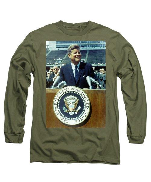 Kennedy At Rice University Long Sleeve T-Shirt