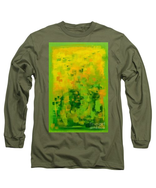 Long Sleeve T-Shirt featuring the painting Kenny's Room by Holly Carmichael