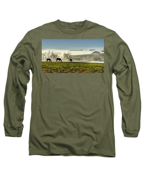 Kentucky Bluegrass Morning #1 Long Sleeve T-Shirt