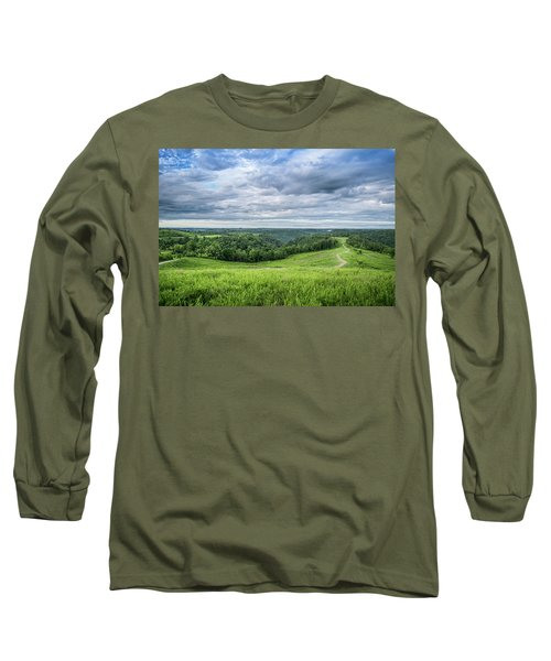 Kentucky Hills And Clouds Long Sleeve T-Shirt