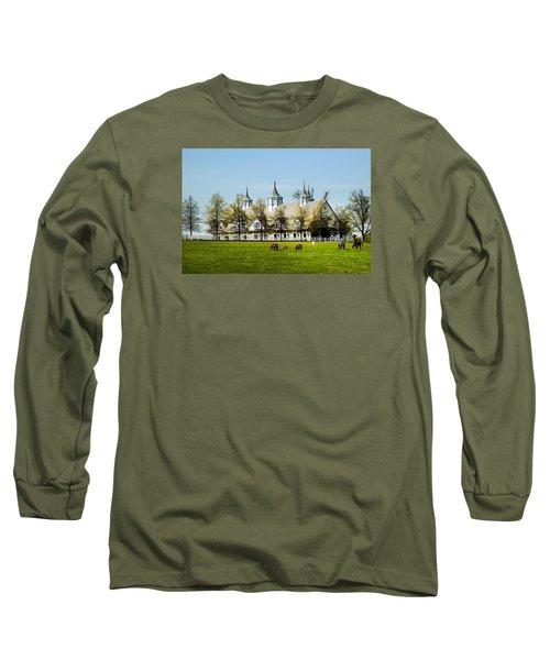 Revised Kentucky Horse Barn Hotel 2 Long Sleeve T-Shirt by Randall Branham