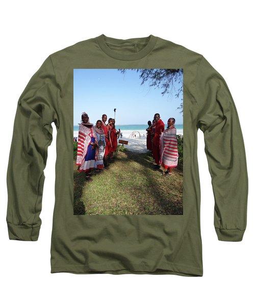 Kenya Wedding On Beach Maasai Bridal Welcome Long Sleeve T-Shirt