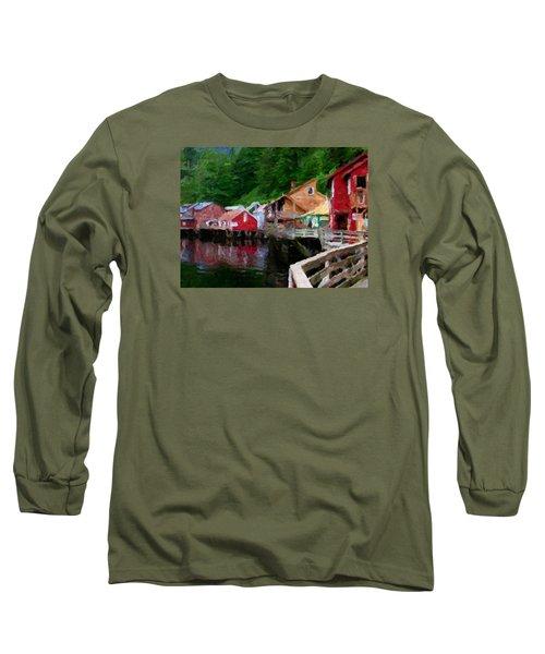 Ketchikan Alaska Long Sleeve T-Shirt by David Hansen