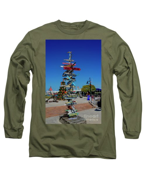 Key West Destination Sign Long Sleeve T-Shirt