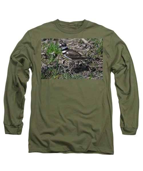 Killdeer Guarding Her Eggs Long Sleeve T-Shirt