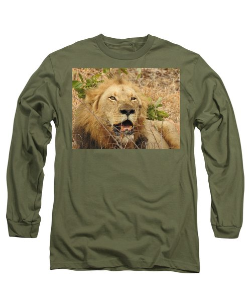 Long Sleeve T-Shirt featuring the photograph King by Betty-Anne McDonald