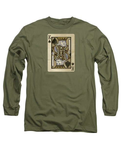 King Of Spades In Wood Long Sleeve T-Shirt by YoPedro