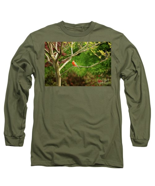 King Parrot Long Sleeve T-Shirt by Cassandra Buckley