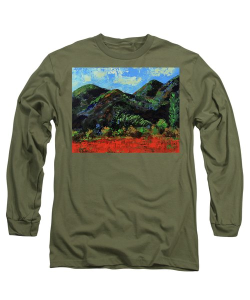 Long Sleeve T-Shirt featuring the painting Kings Canyon Fall Colors by Walter Fahmy