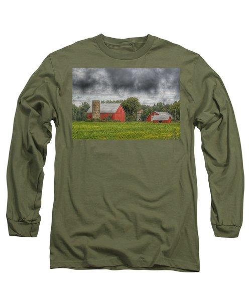 0022 - Kingston Road Red Trio I Long Sleeve T-Shirt