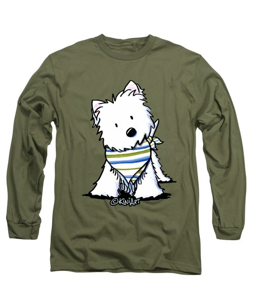 Kiniart Westie Terrier Long Sleeve T-Shirt