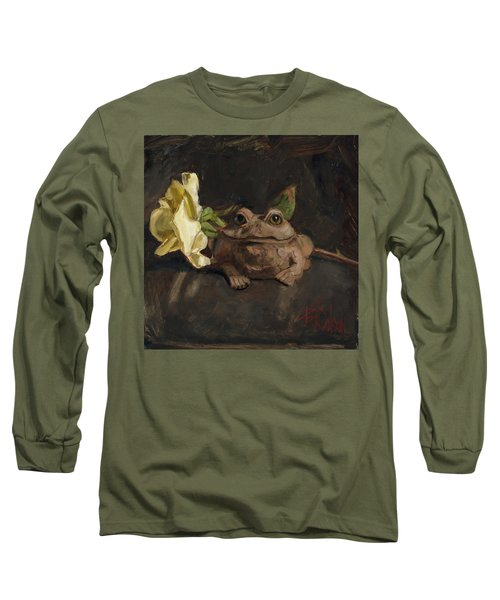 Long Sleeve T-Shirt featuring the painting Kiss Me And Find Out by Billie Colson