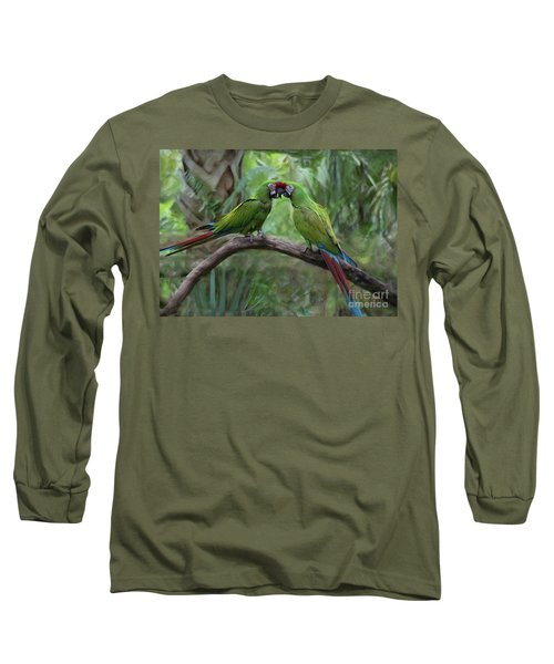 Kissing Macaws Long Sleeve T-Shirt