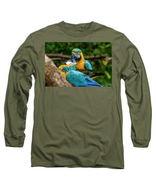 Kissing Parots Long Sleeve T-Shirt