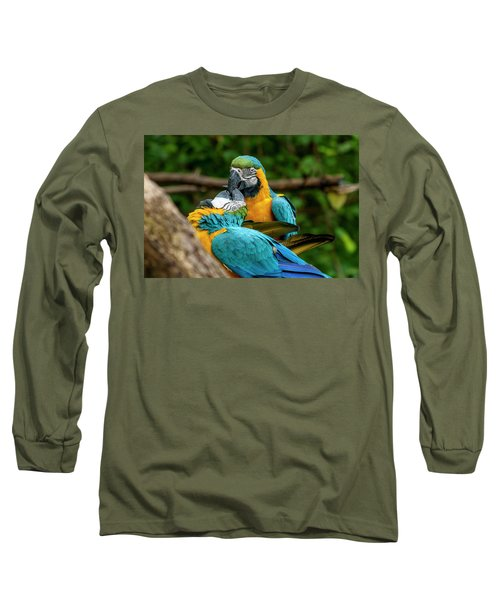 Kissing Parots Long Sleeve T-Shirt