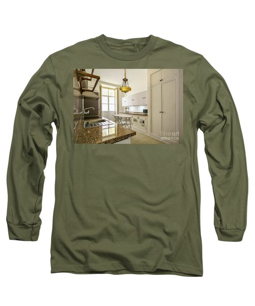 Long Sleeve T-Shirt featuring the photograph Kitchen Apartment In The Heart Of Cadiz by Pablo Avanzini