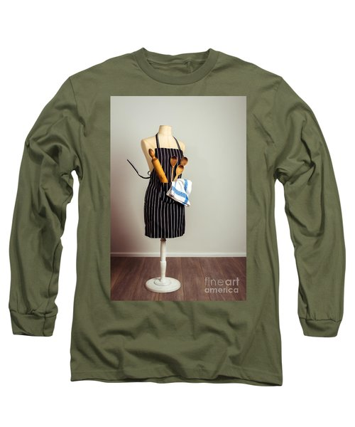 Kitchen Apron Long Sleeve T-Shirt