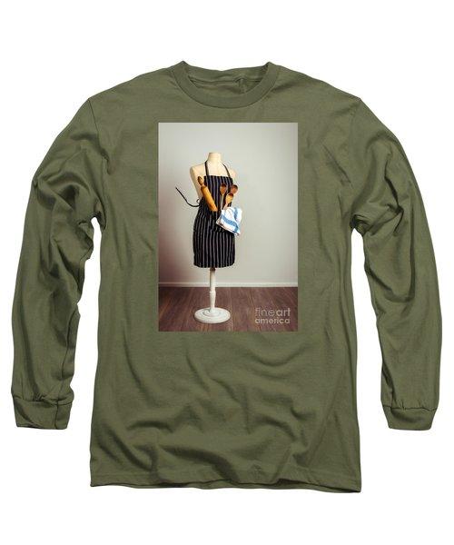 Kitchen Apron Long Sleeve T-Shirt