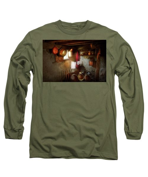 Long Sleeve T-Shirt featuring the photograph Kitchen - Homesteading Life by Mike Savad