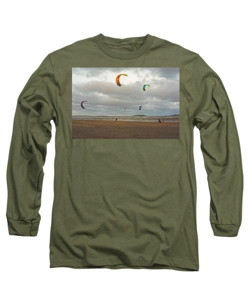 Kitesurfing On Revere Beach Long Sleeve T-Shirt