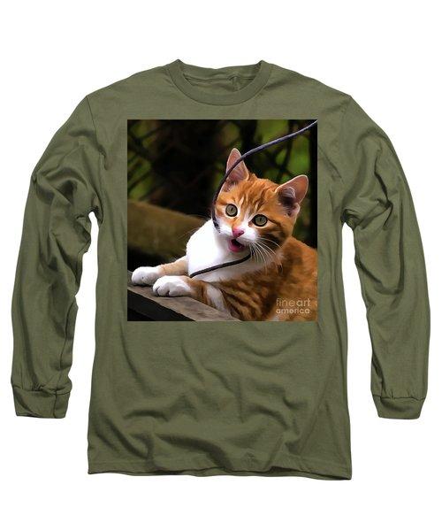 Kitten Portrait Player Long Sleeve T-Shirt