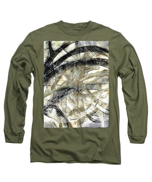 Long Sleeve T-Shirt featuring the painting Knotty by Vicki Ferrari