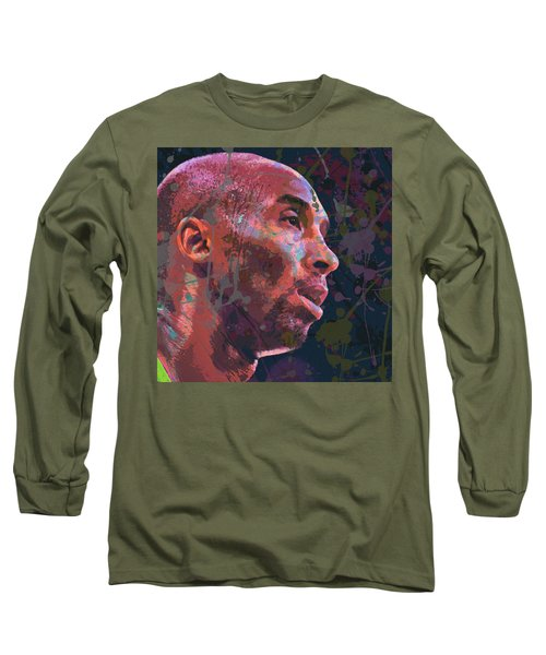Long Sleeve T-Shirt featuring the painting Kobe by Richard Day