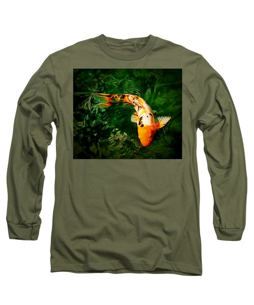 Koi Long Sleeve T-Shirt by Anton Kalinichev