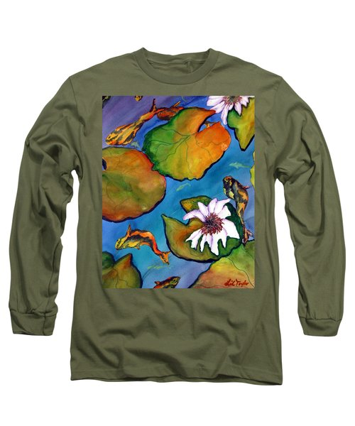 Koi Pond II Sold Long Sleeve T-Shirt by Lil Taylor