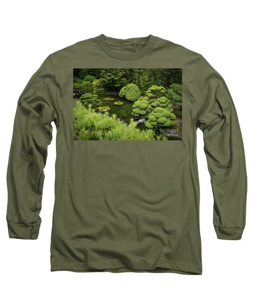 Koi Pond Long Sleeve T-Shirt by Judy Wolinsky