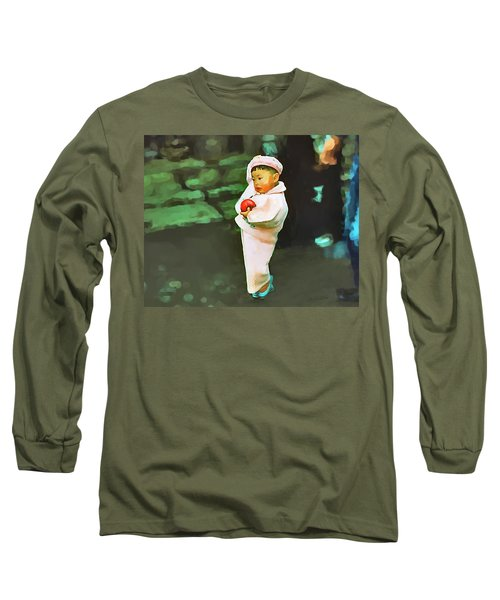 Long Sleeve T-Shirt featuring the photograph Korean Pink by Dale Stillman