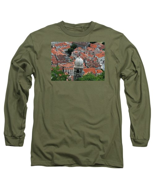 Long Sleeve T-Shirt featuring the photograph Kotor Rooftops by Robert Moss