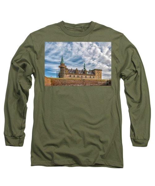 Long Sleeve T-Shirt featuring the photograph Kronborg Castle In Denmark by Antony McAulay