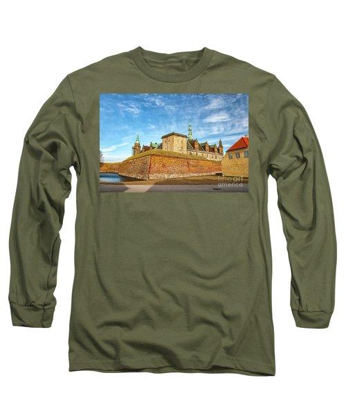 Long Sleeve T-Shirt featuring the photograph Kronborgsslott In Helsingor by Antony McAulay