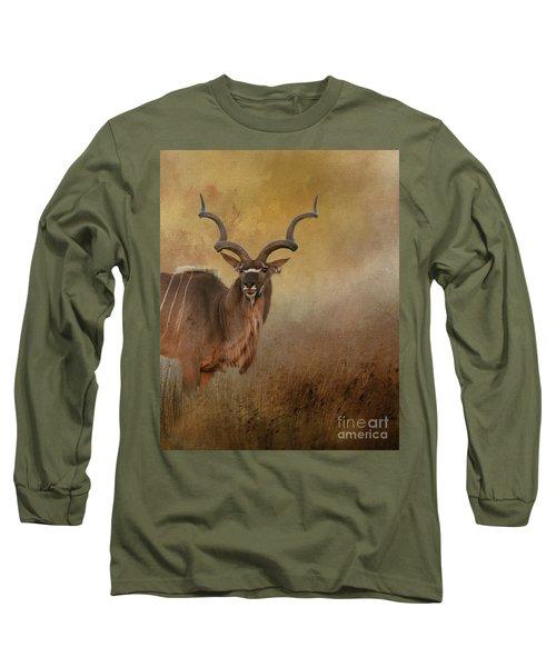 Kudu On Alert Long Sleeve T-Shirt by Myrna Bradshaw